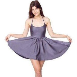 American Apparel Nylon Tricot Skater Dress Sz XS